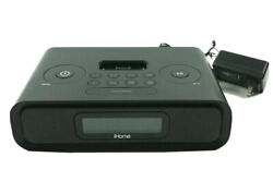 iHome IP99B AM/FM Dual Alarm Clock Radio for iPhone and iPod - Black