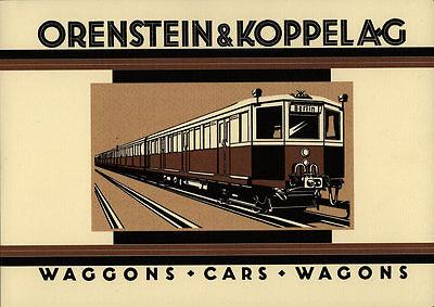 Orenstein & Koppel (O&K): Katalog Eisenbahn-Waggons 1925 - Neuerscheinung