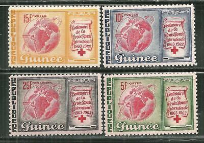 GUINEA 309-11, C50 MNH CENTENNIAL INTERNATIONAL RED CROSS