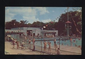 1956 Saginaw Michigan The Anderson Swimming Pool Vintage Postcard Winona Lake In Ebay