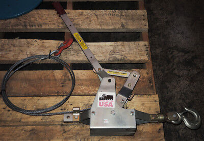 Maasdam Powr-pull 6000s Come Along Cable Puller Capacity 3 Ton - New