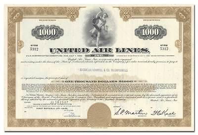 United Air Lines, Inc. Bond Certificate
