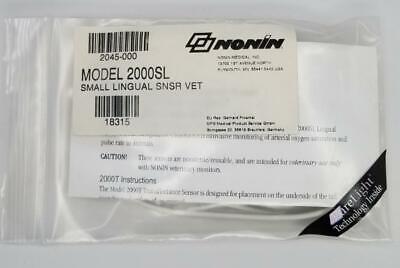Nonin 2045-000 Veterinary Pulse Oximeter 2000sl Small Lingual Snsr New