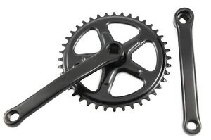 40 TEETH 165mm COTTERLESS CHAINWHEEL CRANK SET BLACK SINGLE CHAIN RING