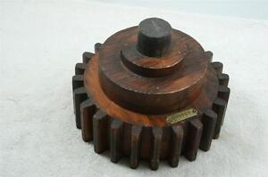 Old Unique Wood Foundry Industrial Gear Pattern Mold