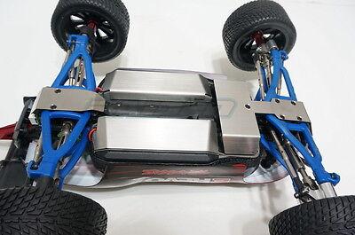 1/16 Mini E Revo SUMMIT Stainless Steel Skid Plate Battery Servo Protector 4pcs