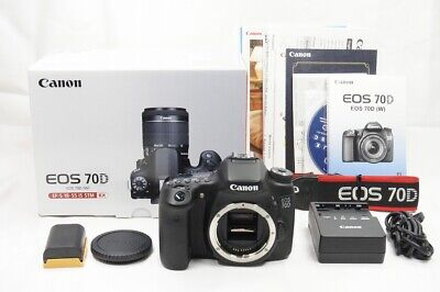 """1,720 shots"" Canon EOS 70D 20.2MP Digital SLR Camera Black Body Only #200429a"