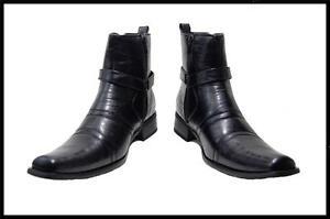 New Mens Bonafini Italian Style Dress Boots With Zipper Brown,Black SN#700