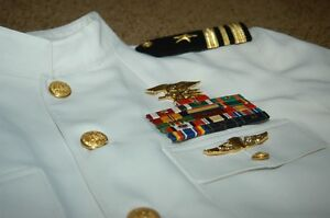 US Navy Seal Dress White Choker Uniform 46s 46XL USN | eBay