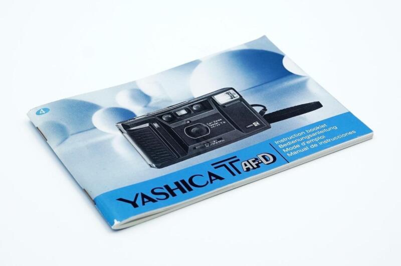 Yashica T AF-D Instruction Booklet