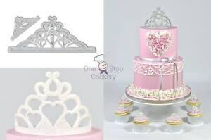 FMM Princess TIARA Cutters 2 Sizes Cupcake Cake Sugarcraft Lace Art & Craft