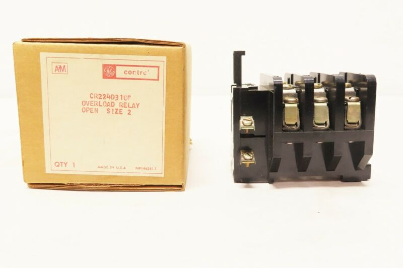 General Electric Ge CR224D310F Size-2 Open 600v-ac 45a Amp Overload Relay