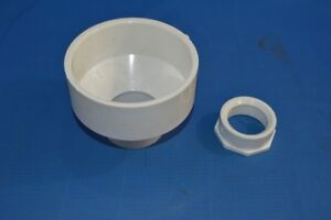 4' x 2' PVC Reducer Pipe and 2' x 1 1/2' PVC Reducer Pipe