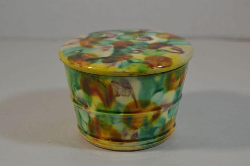 Vintage Sancai Glazed Pottery Box Chinese