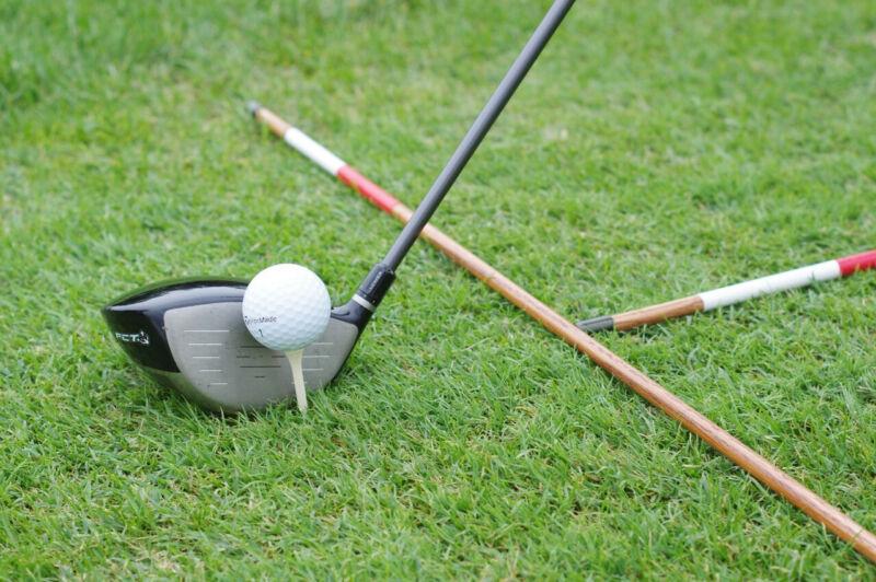 Hickory golf alignment sticks - Peppermint