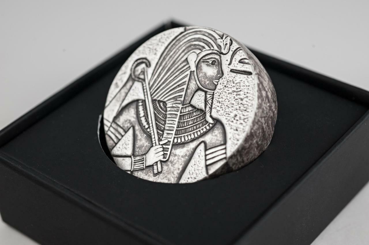 2016 5 oz Egyptian King Tut Silver Coin .999 Silver BU #A403