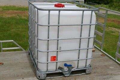 Waste and Oil Grade IBC 275 gallon Liquid Storage Tote Tank Not Cleaned (275 Gallon Oil Tank)
