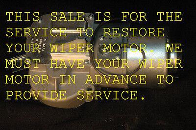 1956 62  WIPER MOTOR RESTORATION  YOUR CORVETTE MOTOR  RESTORED TO PERFECT COND