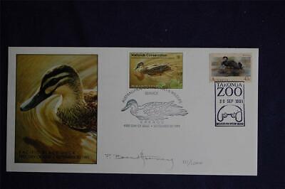 Australia Wetlands $8 Pacific Black Duck & 43c Black Swans FDC Sc#AD4c,1203 - Pacific Black Duck