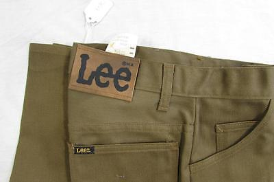 Vtg NOS 70s Lee Twill Pants Boot Cut Cowboy Union Made Tag 29x34 Measure 27x33.5