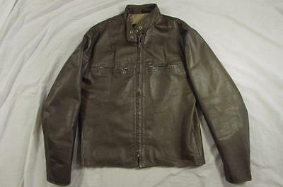 Vtg 60s 70s Womens Harley Davidson AMF Cafe Leather Motorcycle Jacket Racing