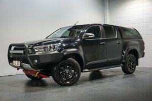 2017 Toyota Hilux GUN126R TRD Black (4x4) Black 6 Speed Automatic Dual Cab Utility