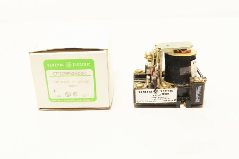 General Electric Ge CR120E02004 General Purpose Relay 10a Amp