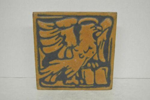 Antique Grueby Yellow Eagle Tile 8x8