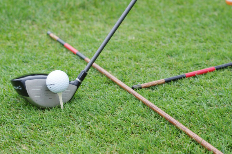 Hickory golf alignment sticks - Black Knight