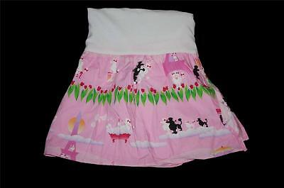 Room Magic Bright Pink Paris Ooh La La Poodles Eiffel Tower Crib Bedskirt - Room Magic Poodles
