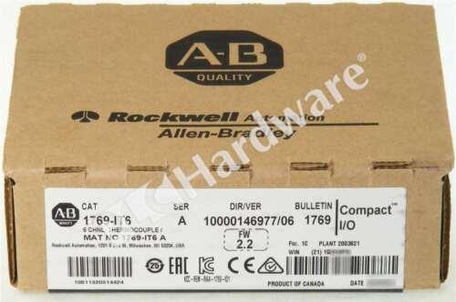 New Sealed Allen Bradley 1769-IT6 /A CompactLogix Thermocouple/mV Input