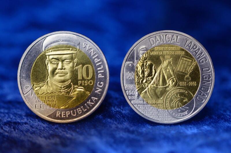 2017 Philippines 10 piso commemorative coin Heneral Antonio Luna uncirculated