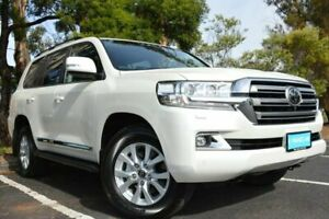 2021 Toyota Landcruiser VDJ200R Sahara White 6 Speed Sports Automatic Wagon