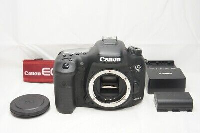 Canon EOS 7D Mark II 20.2MP Digital SLR Camera Black Body Only #200425a