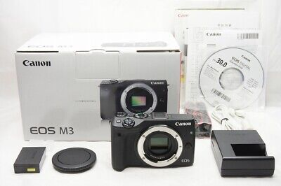 Canon EOS M3 24.2MP Mirrorless Digital Camera Black Body Only w/ Box #200420a