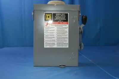 New Square D 30 Amp Fused Safety Switch 3r Outdoor 240 Vac