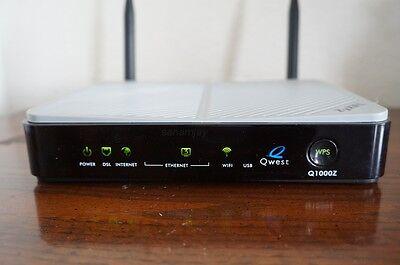 Centurylink Qwest Zyxel Q1000z Vdsl2  Modem With Wireless Router