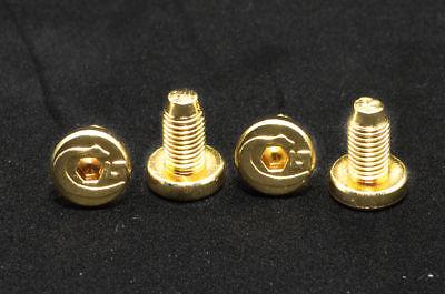 Set of 4 screws 1911 Grip Screws - Slot, Stainless 24k gold - Gold Coated Screws