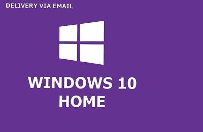 Windows 10 Home activation key 32/64 Bit Win 10 Home Code Download Link