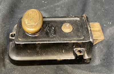 VINTAGE Retro Dead bolt BRASS NIGHT LATCH TAYLOR 812 LOCK CO NEW Old Stock