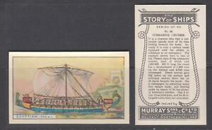 CIGARETTE CARDS Murray 1940 The Story of Ships - complete set