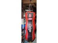 Exigo boxing 4ft triple body leather punch bag - hardly used