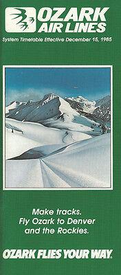 Ozark Air Lines system timetable 12/15/85 [308OZ] Buy 2 Get 1 Free
