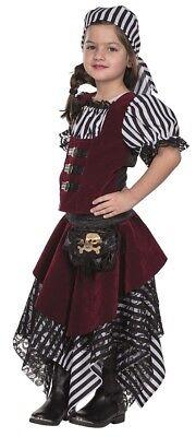 Piraten Baronin Kinderkostüm für Mädchen NEU - Mädchen Karneval Fasching Verklei