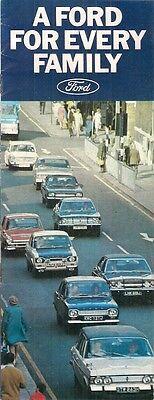 Ford 1971-72 UK Market Sales Brochure Escort Cortina Capri Zephyr Zodiac