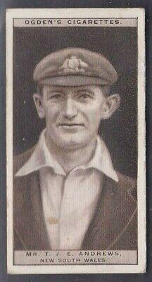 "OGDEN'S ""CRICKET 1926"" #1 T.J.E. ANDREWS, NEW SOUTH WALES (SCANNED IMAGES)"