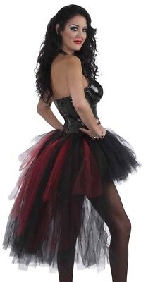 FORUM VAMPIRESS BLACK AND RED BURLESQUE TUTU HALLOWEEN COSTUME ACCESSORY 66756](Red And Black Burlesque Costume)
