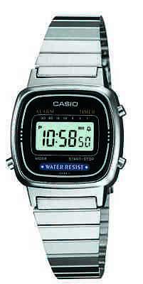Casio Classic Women's Quartz Digital Silver-Tone Bracelet 25mm Watch LA670WA-1