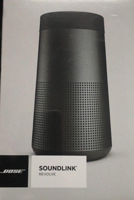 $171.50 - NEW BOSE SOUNDLINK REVOLVE BLUETOOTH PORTABLE SPEAKER - TRIPLE BLACK, FAST SHIP!
