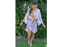 Lavender kimono style gown